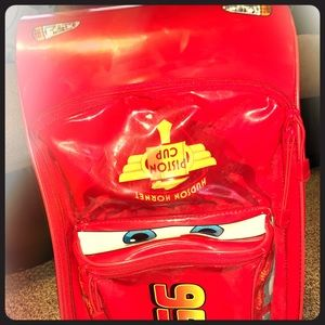 Red lightning McQueen luggage bag